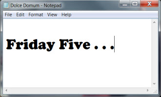 Friday Five_notepad