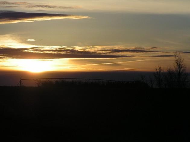Christmas morning near Hastings, Nebraska in 2004. Photograph taken by this blog's author.