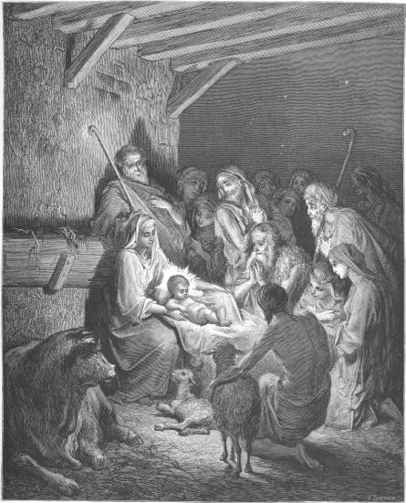 The Nativity by Gustave Dore. 1865.