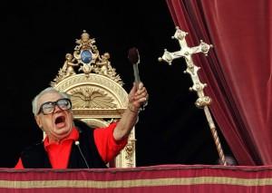 harry on the papal balcony
