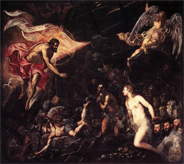 """Descent into Hell"" by Tintoretto, 1568"