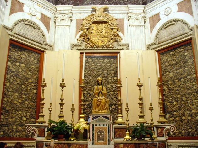 Skulls of the martyrs inside the Otranto Cathedral