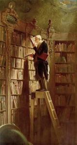 Der Bücherwurm (The Bookworm) by Carl Spitzweg, 1850.