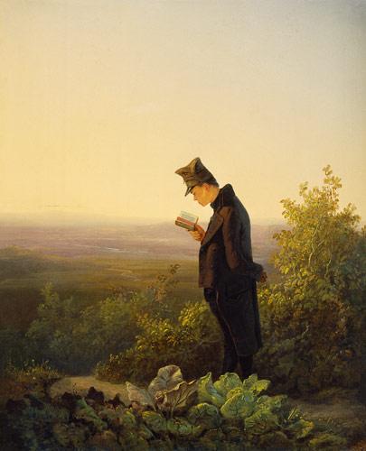 Reading the Breviary, by Carl Spitzweg (1808-1885)