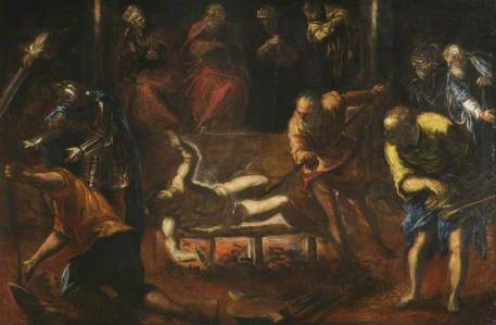 The Martyrdom of St Lawrence, Tintoretto, oil on canvas, (Christ Church, Oxford)