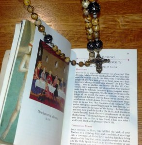 Meditating on the Luminous Mysteries of the Rosary.
