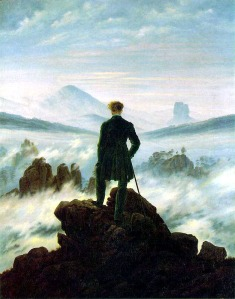 Wanderer Above the Sea of Fog, painted by Caspar David Friedrich (1818)
