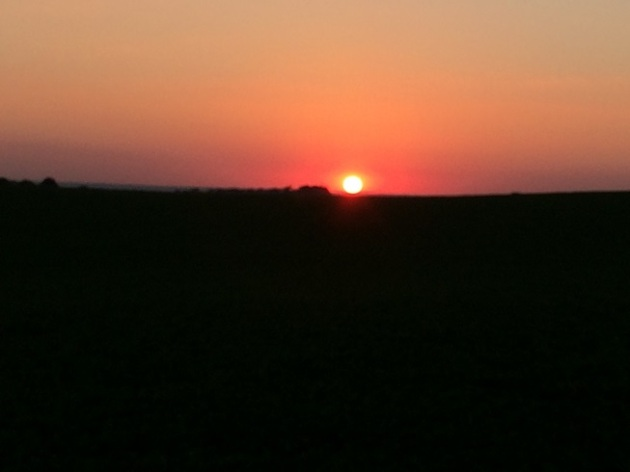 Sunset at Vespers on Friday evening