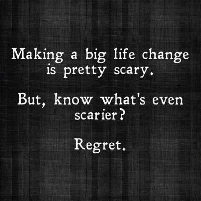 changes and regret