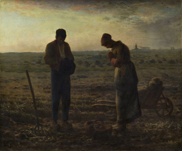 The Angelus (L'Angelus) by Jean-François Millet, completed in 1859.