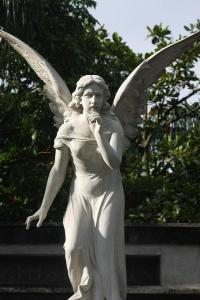 Angel at San Pedro Cemetery (Source)
