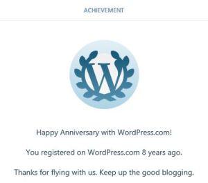 wordpress happy anniversary